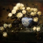 Jacqueline Kamin, Yellow Roses, oil, 20 x 24.