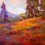Janis Ellison, Poppy Hill, pastel, 11 x 14.