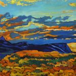 JanyRae Seda, Southwest Sunset, oil, 36 x 60.
