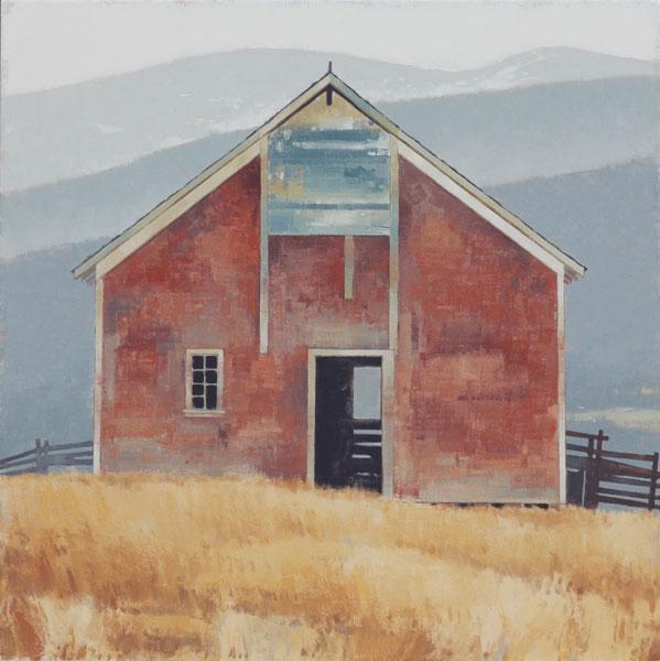 Montana Hilltop, oil, 40 x 40.