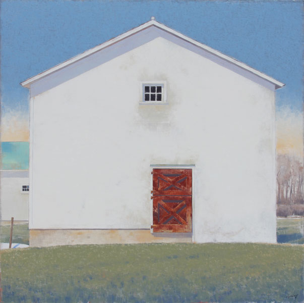 Red Door, oil, 60 x 60.