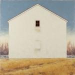 Red Window, oil, 48 x 48.