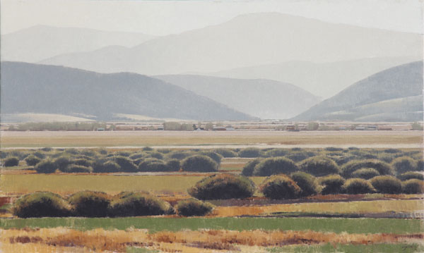 Summer in the Valley, oil, 36 x 60.