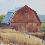 The Yard, oil, 25 x 25.