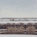 Winter Sky, oil, 42 x 32.