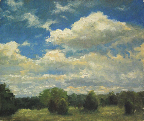 Jason Sacron, Cloudy Day, oil, 10 x 12.