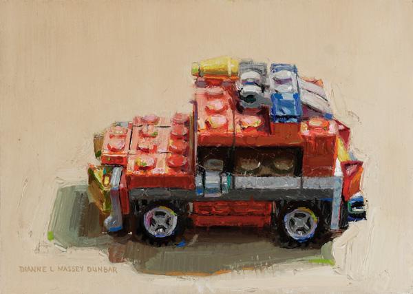 Dianne Massey-Dunbar, Jeep, oil, 5 x 7.