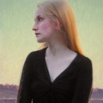 Jeremy Lipking, Sofie at Dusk, oil, 24 x 16.