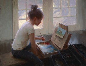 Jeremy Lipking, Light and Color, oil, 16 x 21.