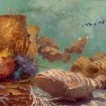 Stanley Meltzoff, Jewfish 6, Sabbath Reef Worship at Minyan Reef, oil, 24 x 33.