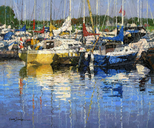 X. Song Jiang, Reflection of Summer, oil, 10 x 12.