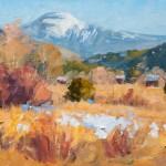 Clarence Medina, Jicarita Afternoon, oil, 11 x 14.