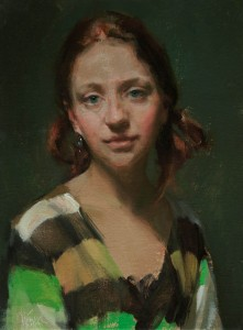 Johanna Harmon, Jillian, oil, 12 x 9.