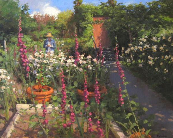 Jim McVicker, Garden, Afternoon Sun, oil, 24 x 30.