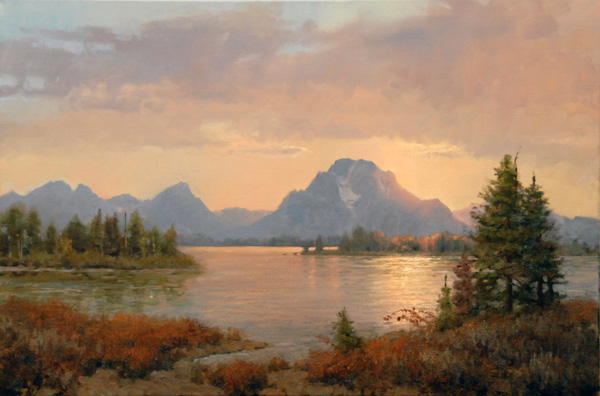 Jim Wilcox, Ripples on the Oxbow, oil, 20 x 30.