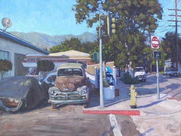 Scott Prior, Jim's Place, oil, 18 x 24.