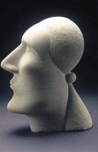 Joe Brady, Head of an Indian, Indiana limestone, 18 x 12 x 9.