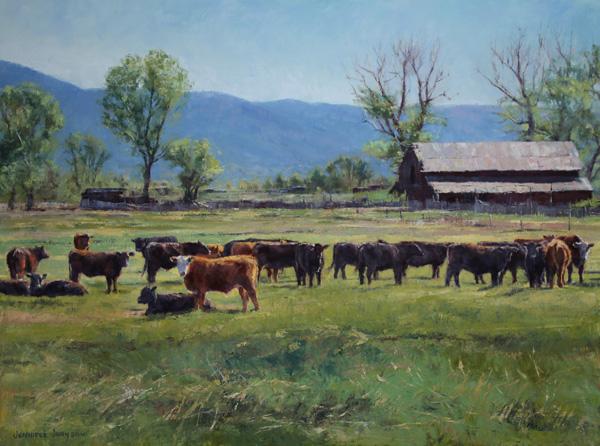Jennifer Johnson, Field with a View, oil, 30 x 40.