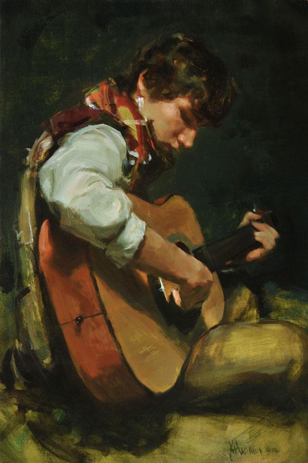 Johanna Harmon, Jonathan, oil, 24 x 16.