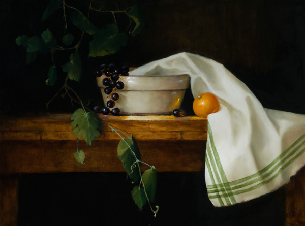 Barbara Jones, Granny's Mixing Bowl, oil, 18 x 24.