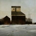 Joseph Alleman, Fading Sky, oil, 40 x 30.