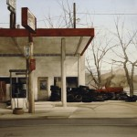 Joseph Alleman, Ted's Station, watercolor, 20 x 20.