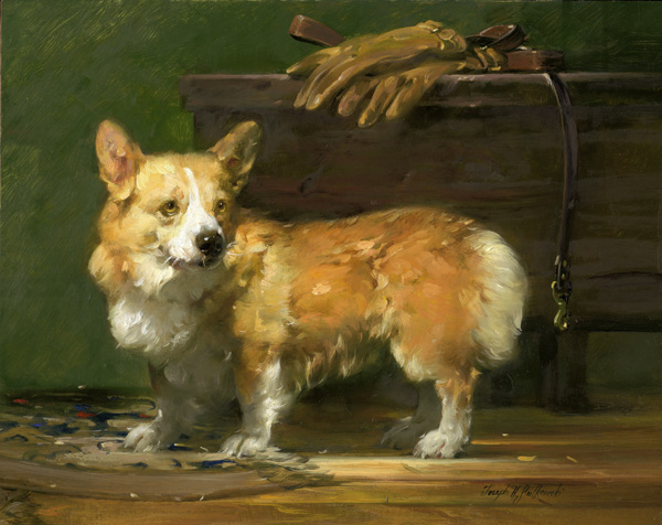 Joseph-H. Sulkowski, Ready for a Walk, oil, 16 x 20.