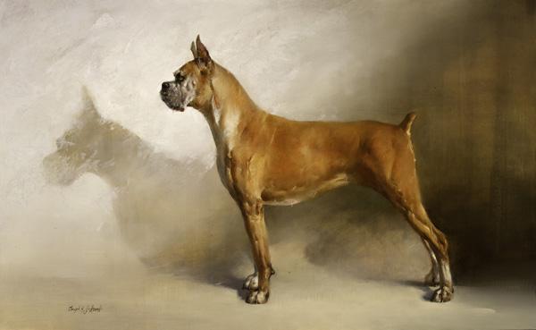 Joseph H. Sulkowski, Shadow Boxer, oil, 26 x 42.