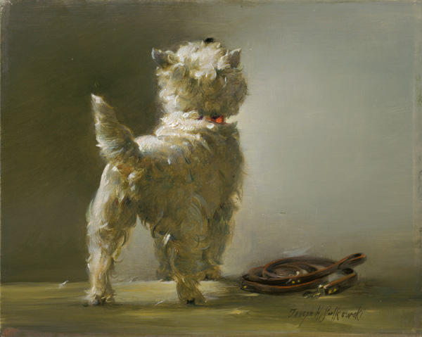 Joseph Sulkowski, My Little Westie, oil, 8 x 10.