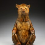 Joshua Tobey, Meditation, bronze, 17 x 8 x 8.