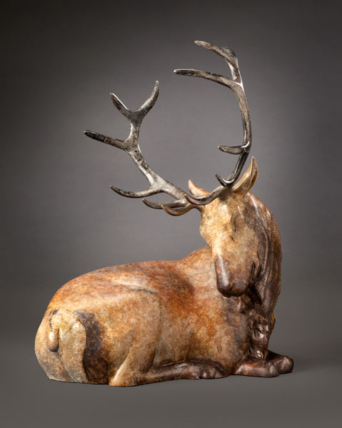 Joshua Tobey, Summit, bronze, 14 x 9 x 11.