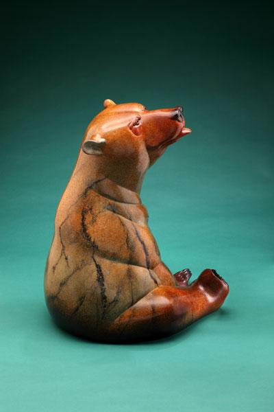 Joshua Tobey, Barefoot, bronze, 32 x 23 x 22.