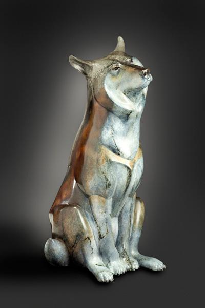 Joshua Tobey, Ace, bronze, 36 x 17 x 17.