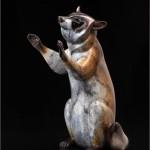 Joshua Tobey, Magic Hands, bronze, 21 x 15 x 13.