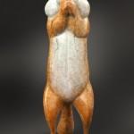 Joshua Tobey, The Monk, bronze, 8 x 3 x 4.