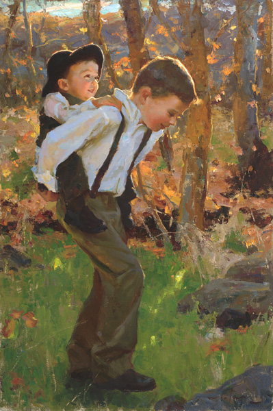 Mike Malm, Joyful, oil, 30 x 20.
