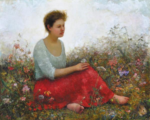 JuLee Simmons, Awakening, oil, 48 x 60.