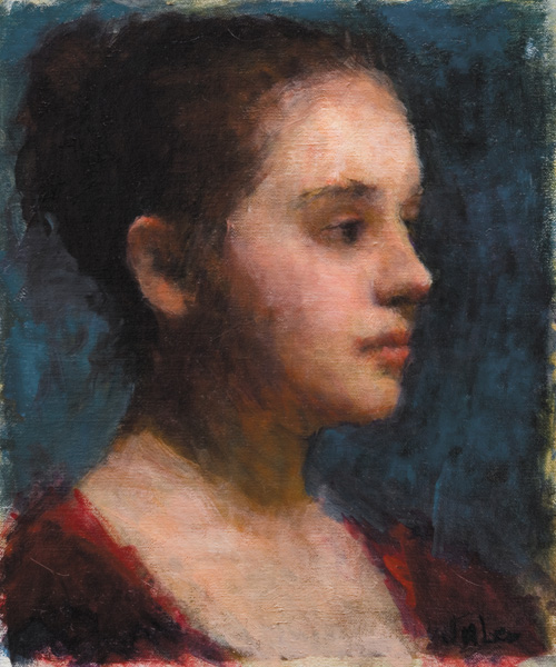 JuLee Simmons, Portrait of a Young Girl, oil, 12 x 10.