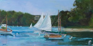 Judy Stach, Falmouth Perfection, oil, 12 x 14.