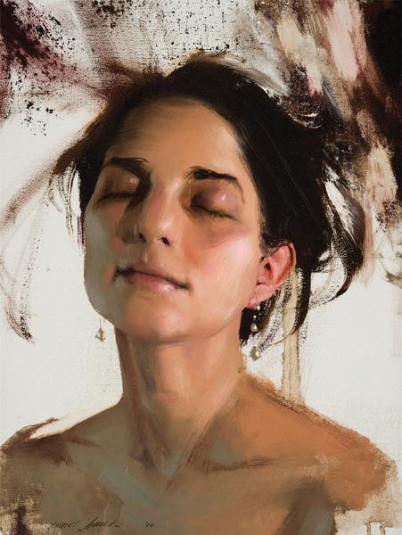 Daniel Sprick, Julia, oil, 16 x 12.