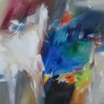 Jean Richardson, Kaleidoscopic, acrylic, 36 x 60.