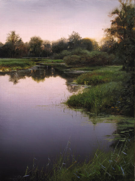 Renato Muccillo | Kanaka Creek June Study, oil, 8 x 6.