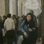 Deb Kaylor, Market Day, oil, 12 x 6.