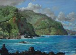 Michael Clements, Keanae View of Hana Road, pastel, 20 x 24.