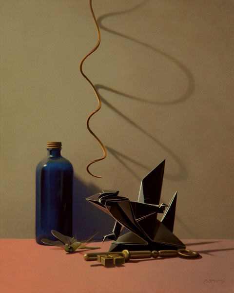 Daniel Mark Cassity, Keeper of the Key, oil, 20 x 16.