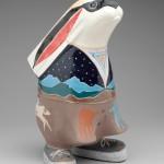 Rebecca Tobey, Kemo Sabe, ceramic, 14 x 8 x 8.