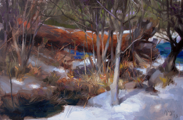 Daniel Keys, Yosemite Winter, oil, 10 x 16.