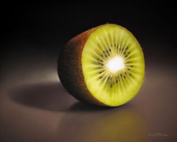 Kiwi, Pastel, 16 x 20.