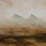 Peter Krusko, Roads in the Basin, watercolor, 22 x 30.