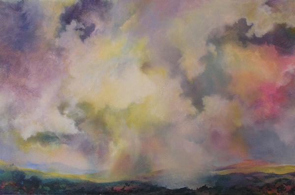 Angus Macpherson, Late Light, Last Night, acrylic, 26 x 40.